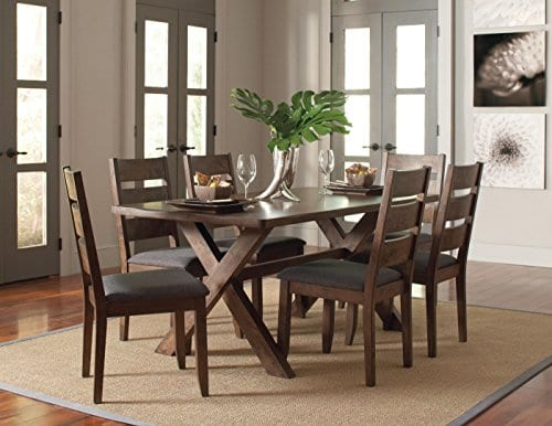 Alston Ladderback Dining Side Chairs Knotty Nutmeg And Grey Set Of 2 0 1