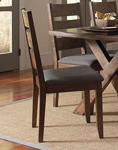 Alston Ladderback Dining Side Chairs Knotty Nutmeg And Grey Set Of 2 0