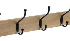 AmazonBasics Wall Mounted Coat Rack Barnwood 0 300x178