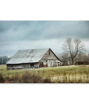 An Old Gray Barn By Jai Johnson 22x32 Inch Canvas Wall Art 0 300x360