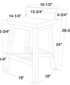 Anton Farmhouse Solid Wood Distressed White 24 Inch Breakfast Bar Stool 0 0 300x360