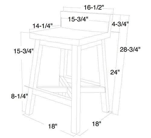 Anton Farmhouse Solid Wood Distressed White 24 Inch Breakfast Bar Stool 0 0