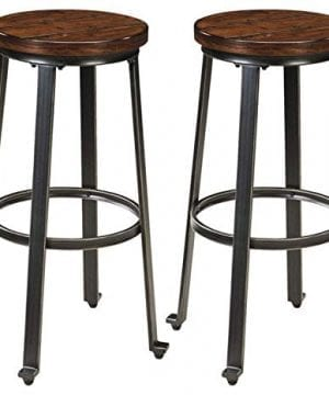 Ashley Furniture Signature Design Challiman Bar Stool Pub Height Set Of 2 Rustic Brown 0 300x360