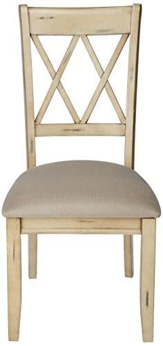 Ashley Furniture Signature Design Mestler Dining Side Chair Upholstered Seat Set Of 2 Antique White 0 0