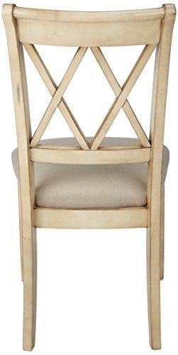 Ashley Furniture Signature Design Mestler Dining Side Chair Upholstered Seat Set Of 2 Antique White 0 1