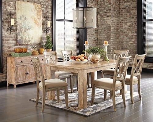 Ashley Furniture Signature Design Mestler Dining Side Chair Upholstered Seat Set Of 2 Antique White 0 2