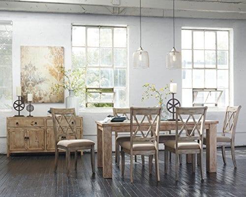 Ashley Furniture Signature Design Mestler Dining Side Chair Upholstered Seat Set Of 2 Antique White 0 3