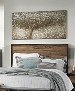 Ashley Furniture Signature Design OKeria Wall Art Contemporary Gallery Wrapped Canvas Tree Design In BrownGreenCream 0 1 300x360