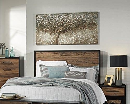 Ashley Furniture Signature Design OKeria Wall Art Contemporary Gallery Wrapped Canvas Tree Design In BrownGreenCream 0 1