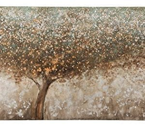 Ashley Furniture Signature Design OKeria Wall Art Contemporary Gallery Wrapped Canvas Tree Design In BrownGreenCream 0 300x262