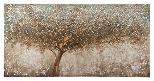 Ashley Furniture Signature Design OKeria Wall Art Contemporary Gallery Wrapped Canvas Tree Design In BrownGreenCream 0