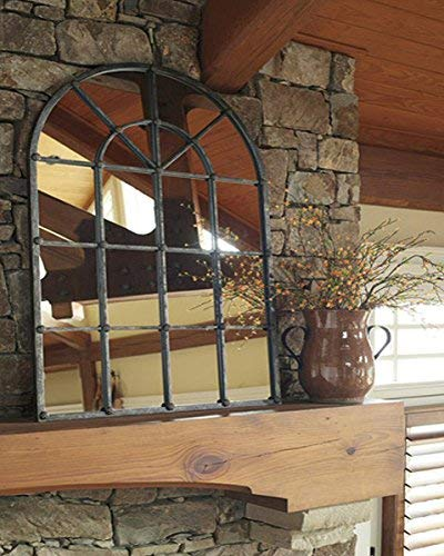 Ashley Furniture Signature Design Oengus Arched Window Finished Metal Mirror Traditional Bronze Finish 0 0
