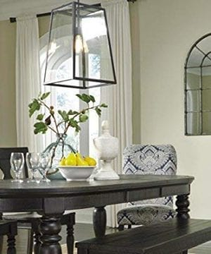 Ashley Furniture Signature Design Oengus Arched Window Finished Metal Mirror Traditional Bronze Finish 0 1 300x360