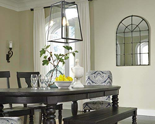 Ashley Furniture Signature Design Oengus Arched Window Finished Metal Mirror Traditional Bronze Finish 0 1