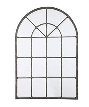 Ashley Furniture Signature Design Oengus Arched Window Finished Metal Mirror Traditional Bronze Finish 0 300x360