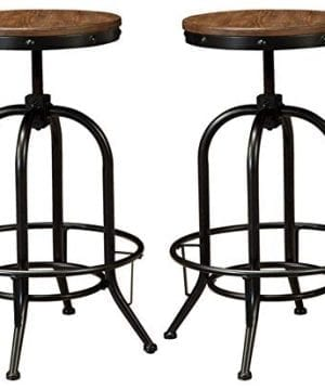 Ashley Furniture Signature Design Pinnadel Bar Stool Pub Height Set Of 2 Rustic Brown 0 300x360