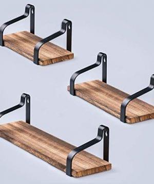 AshleyRiver Wall Mount Floating Shelves Set Of 3 Rustic Wood Wall Shelves For Bedroom Living Room Bathroom KitchenFarmhouse 0 0 300x360
