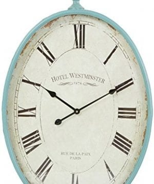 Aspire Sonia Oval Wall Clock Blue 0 300x360