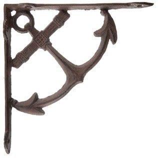 Hooks, Brackets & Curtain Rods Rustic Set of 2 Octopus Cast Iron Wall Shelf Brackets Nautical Decor Antiques