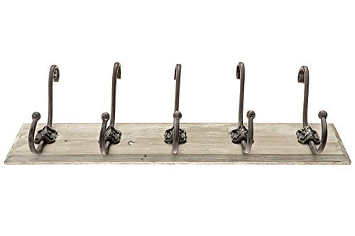Avignon Rustic Hook Rail Coat Or Towel Rack 24 Inches Wide And 45 Inches High 0 1