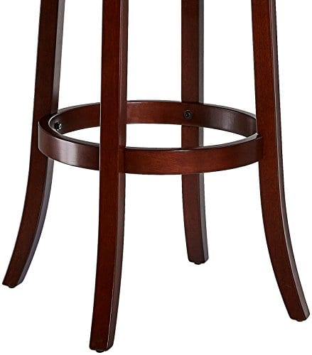 Pleasant Ball Cast Jayden Wooden Swivel Bar Stool With Faux Leather Upholstery 29 Inch Seat Height Cherry Caraccident5 Cool Chair Designs And Ideas Caraccident5Info