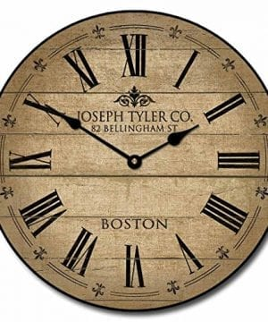 Barnwood Tan Wall Clock Available In 8 Sizes Most Sizes Ship The Next Business Day Whisper Quiet 0 300x360