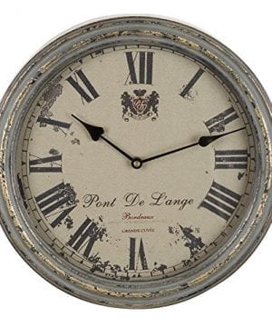 Benzara Metal Wall Clock A Vintage Metallic Clock 0 300x360