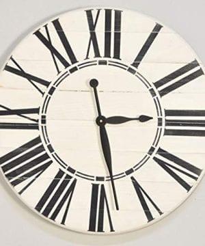 BrandtWorks Riley Oversized Farmhouse 36 Wall Clock 36 X 36 Antique WhiteBlack 0 2 300x360