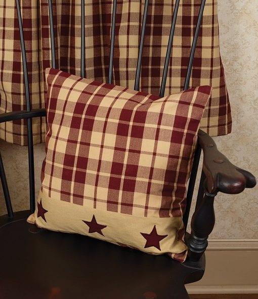 Burgundy Farmhouse Star 16 Pillow 0 0 510x589