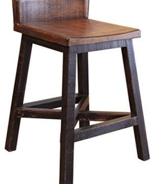 BurlesonHomeFurnishings-Anton-Farmhouse-Solid-Wood-Distressed-Black-24-inch-Breakfast-Bar-Stool-0