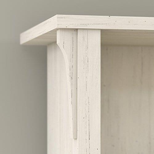 Bush Furniture Salinas Hall Tree With Storage Bench In Antique White 0 1