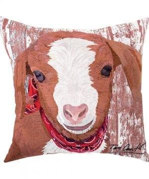 CF Home Goat IndoorOutdoor Pillow 18 X 18 White Goat 0 300x360