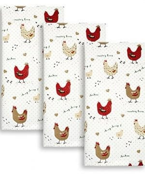 Cackleberry Home Farmhouse Chicken Kitchen Towels 100 Cotton Set Of 3 0 300x360
