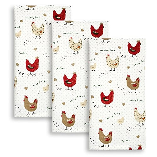 Cackleberry Home Farmhouse Chicken Kitchen Towels 100 Cotton Set Of 3 0