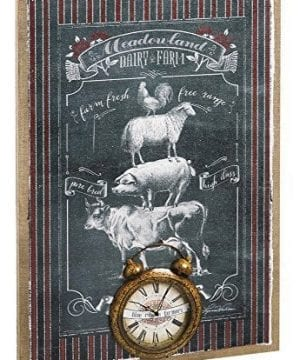 Cape Craftsmen Evergreen Burlap Old Mill Farmhouse Wall Clock Canvas 24 X 36 Inches 0 300x360