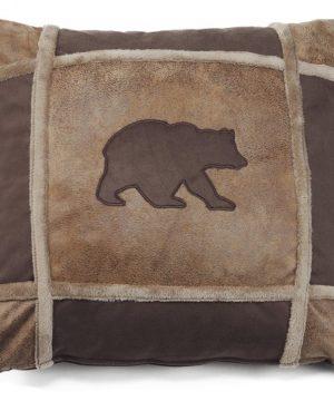 Carstens Bear Grid Pillow 0 300x360