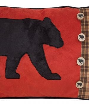Carstens Bear And Buttons Red With Plaid Decorative Pillow 14 X 26 Multicolor 0 300x360
