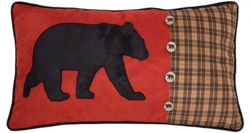 Carstens Bear And Buttons Red With Plaid Decorative Pillow 14 X 26 Multicolor 0 510x271