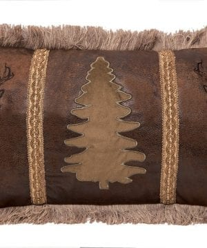 Carstens Buck And Tree Faux Suede Decorative Pillow 14 X 26 Multicolor 0 300x360