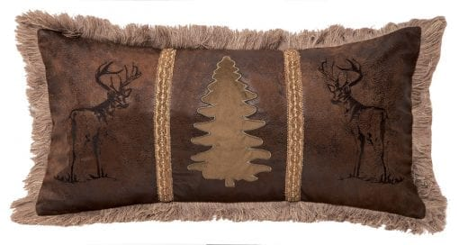 Carstens Buck And Tree Faux Suede Decorative Pillow 14 X 26 Multicolor 0 510x272