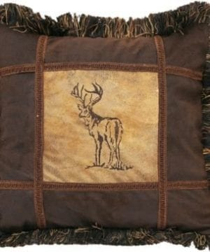 Carstens Embroidered Buck Pillow 0 300x360