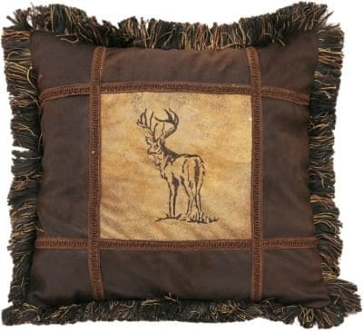 Carstens Embroidered Buck Pillow 0