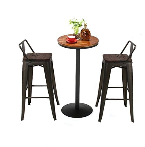 Astonishing Pack Of 4 Low Back Gunmetal Counter Bar Stool Indoor Outdoor Bistro Cafe Bar Stools 26 Inch Low Back Wooden Theyellowbook Wood Chair Design Ideas Theyellowbookinfo