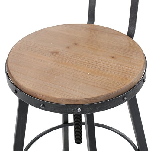 Christopher Knight Home Fenix Firwood Antique Barstool 0 3