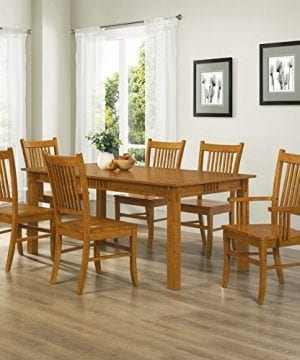 Coaster Home Furnishings 7 Piece Mission Style Solid Hardwood Dining Table Chairs Set 0 300x360