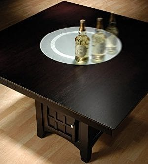 Coaster Home Furnishings 9 Piece Counter Height Storage Dining Table WLazy Susan Chair Set 0 0 300x333