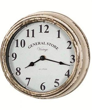 Colonial Tin Works Rustic General Store Wall ClockDistressed White 0 300x360