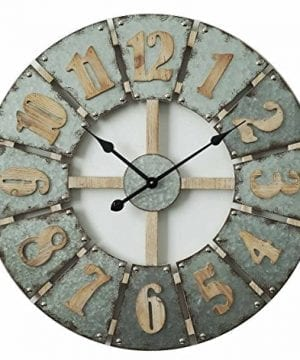 Concepts Big Wall Clock Big Numerals Metal Features Grey Cool Color Amazing Decor Style 27 Inches 0 300x360