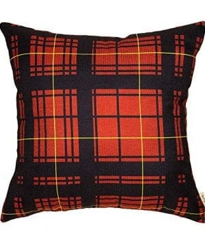 Cotton Linen Fjfz Home Decorative Throw Pillow Case Cushion Cover For Sofa Couch Christmas Winter Deer Scottish Buffalo Plaid Red 18 X 18 0 300x360