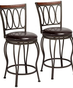 Cyrus Bronze 24 Swivel Counter Stools Set Of 2 0 300x360